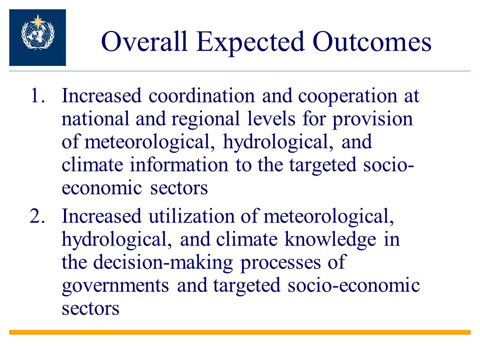 Overall Expected Outcomes