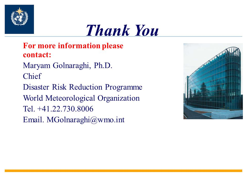 Thank You For more information please contact: