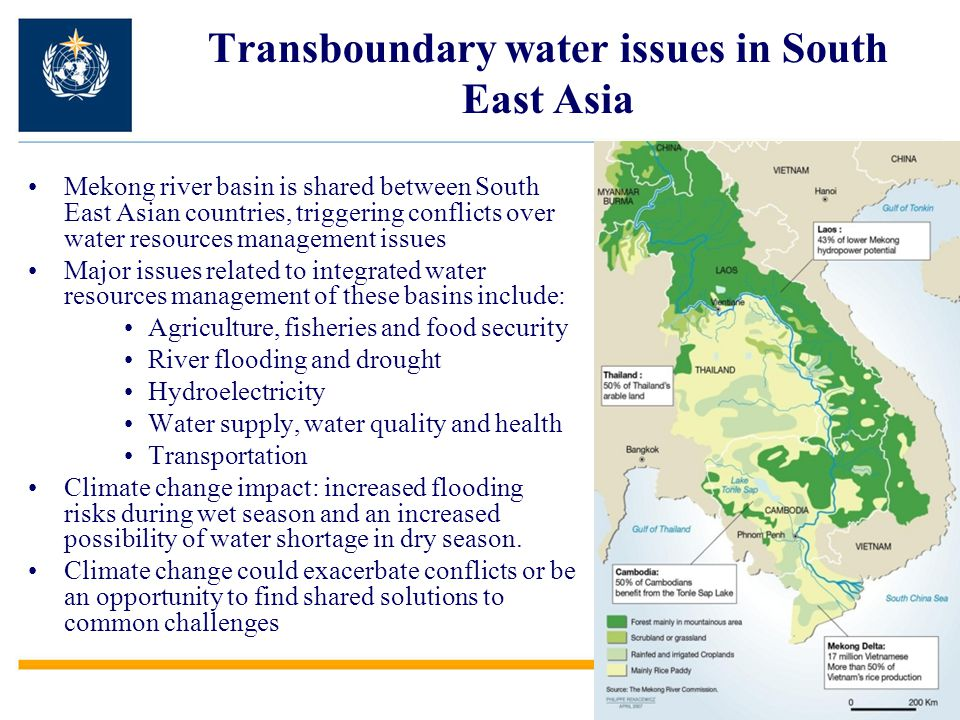 Transboundary water issues in South East Asia