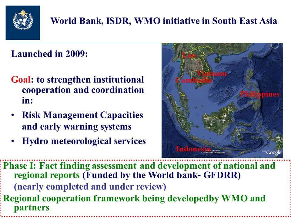 World Bank, ISDR, WMO initiative in South East Asia