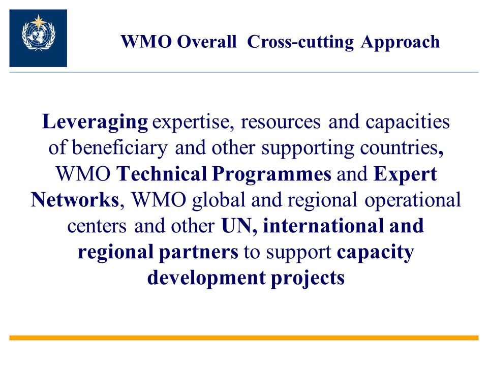 WMO Overall Cross-cutting Approach