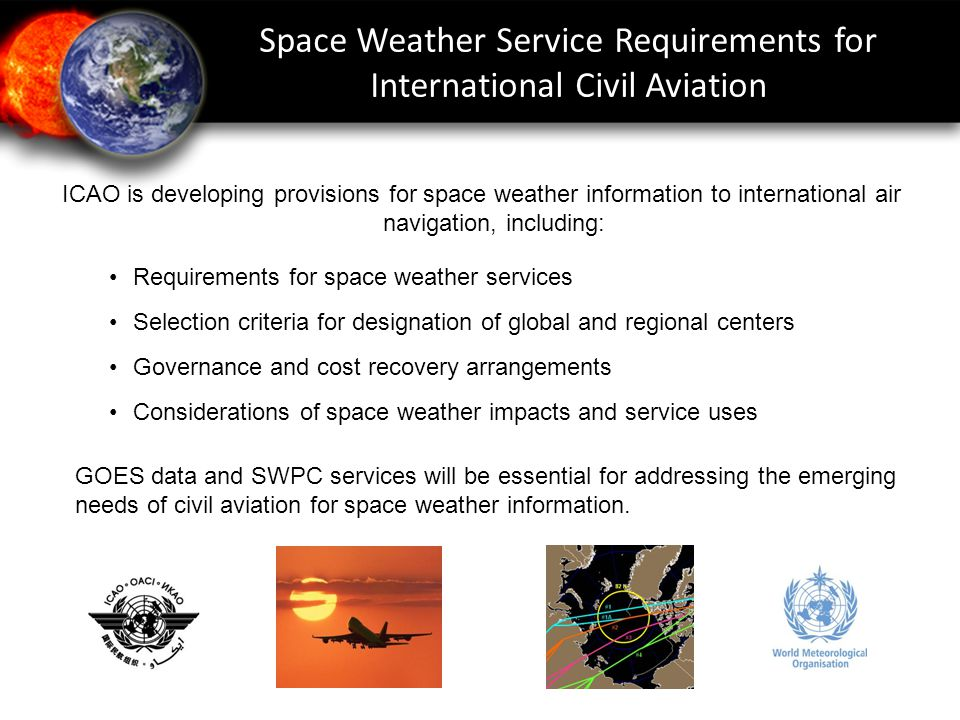 Space Weather Service Requirements for International Civil Aviation