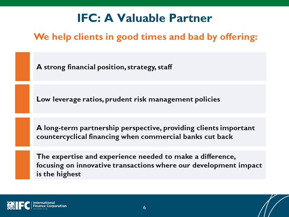 IFC: A Valuable Partner