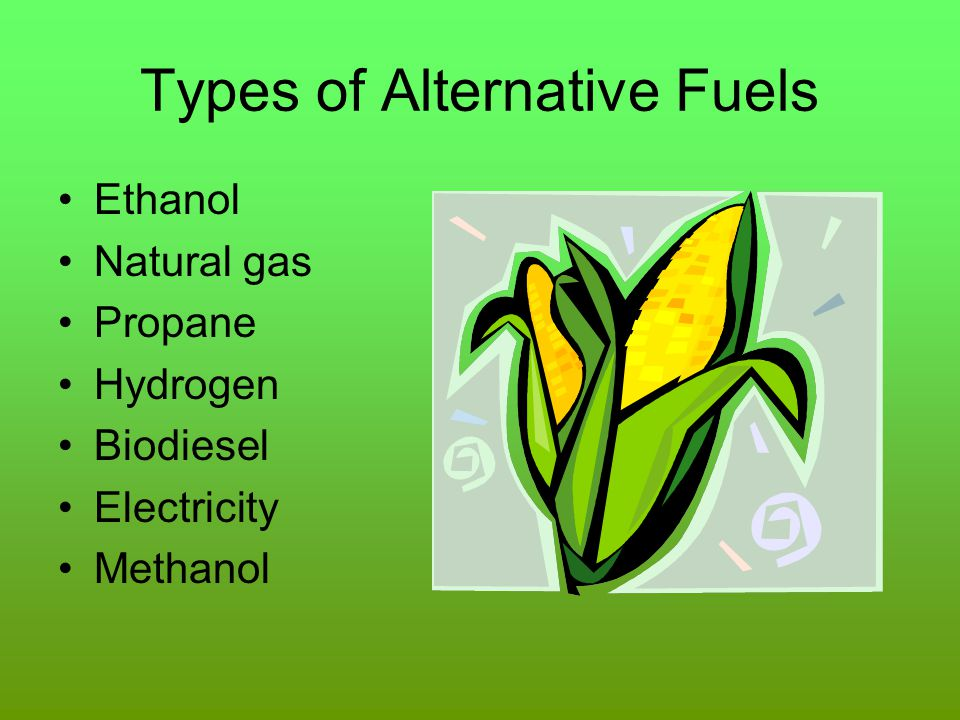 Types of Alternative Fuels