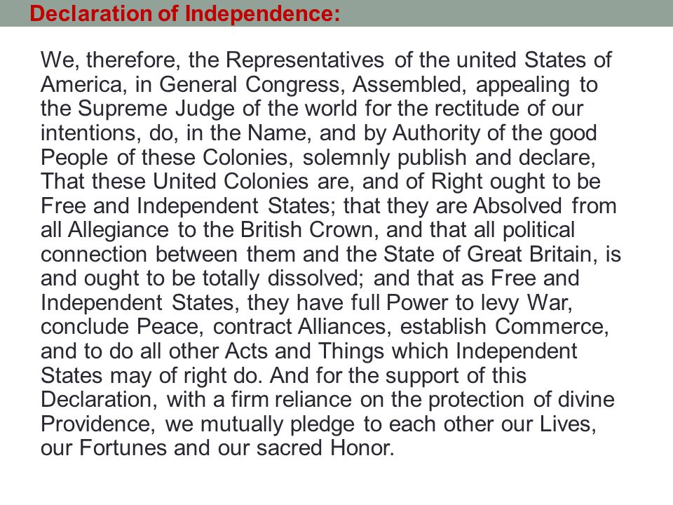 The Declaration of Independence P - ppt download on triangular trade map, proclamation of 1763 map, battle of bunker hill map, texas independence map, john adams map, white house map, america map, deep south map, new york map, declaration independence print out, the dark tower map, independence day map, english official language map, american revolution map, checks and balances map, articles of confederation map, founding fathers map, balfour declaration map, education map, seal island map,