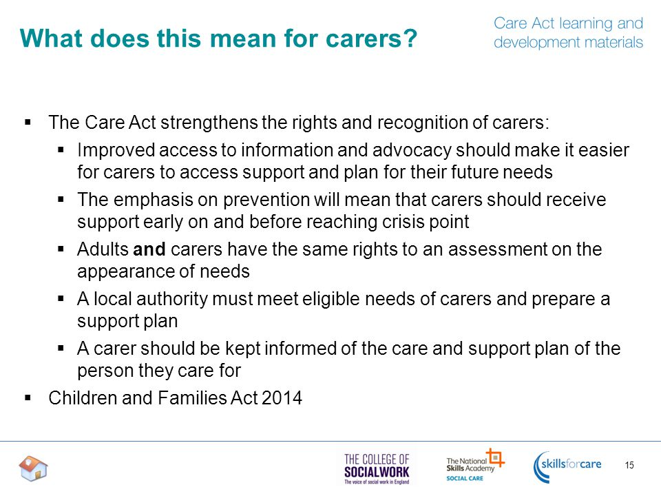 What does this mean for carers