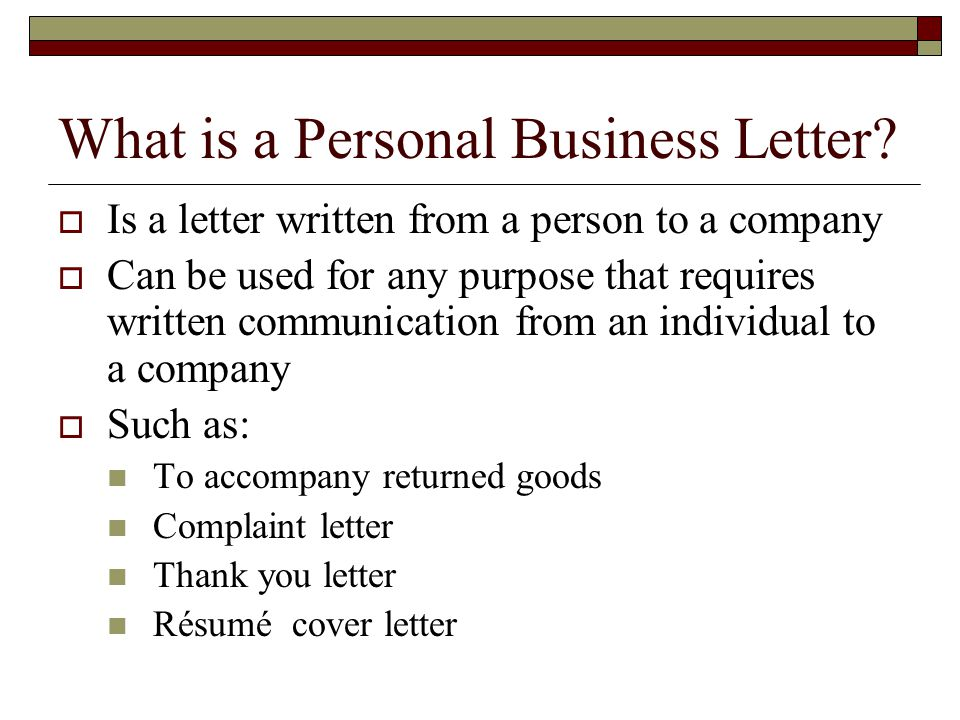 Personal Business Letters and Common documents - ppt video online ...
