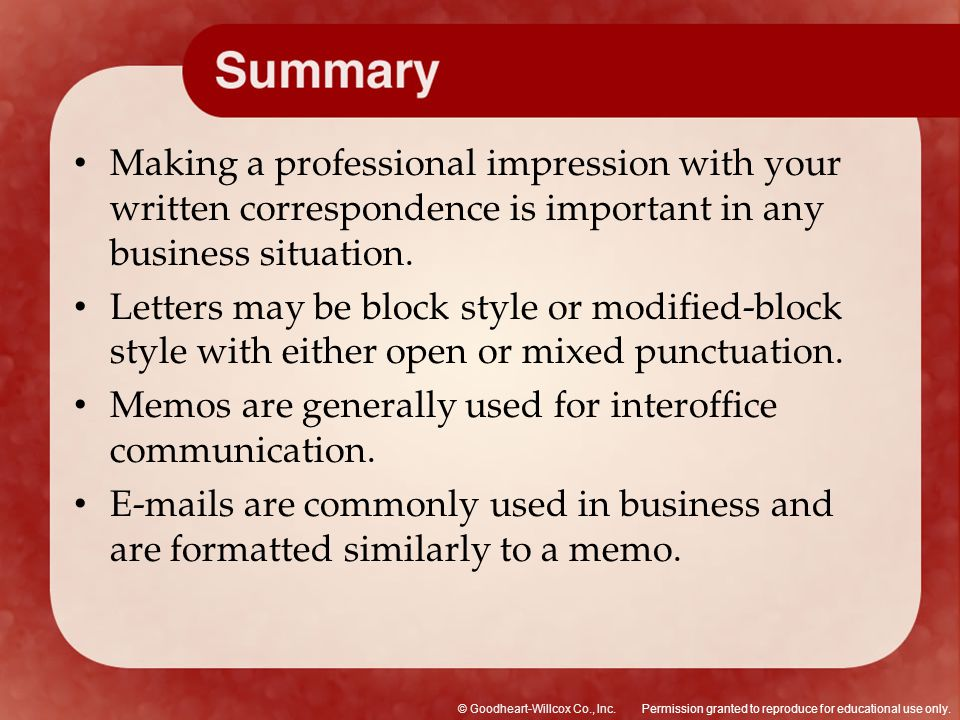 Making a professional impression with your written correspondence is important in any business situation.