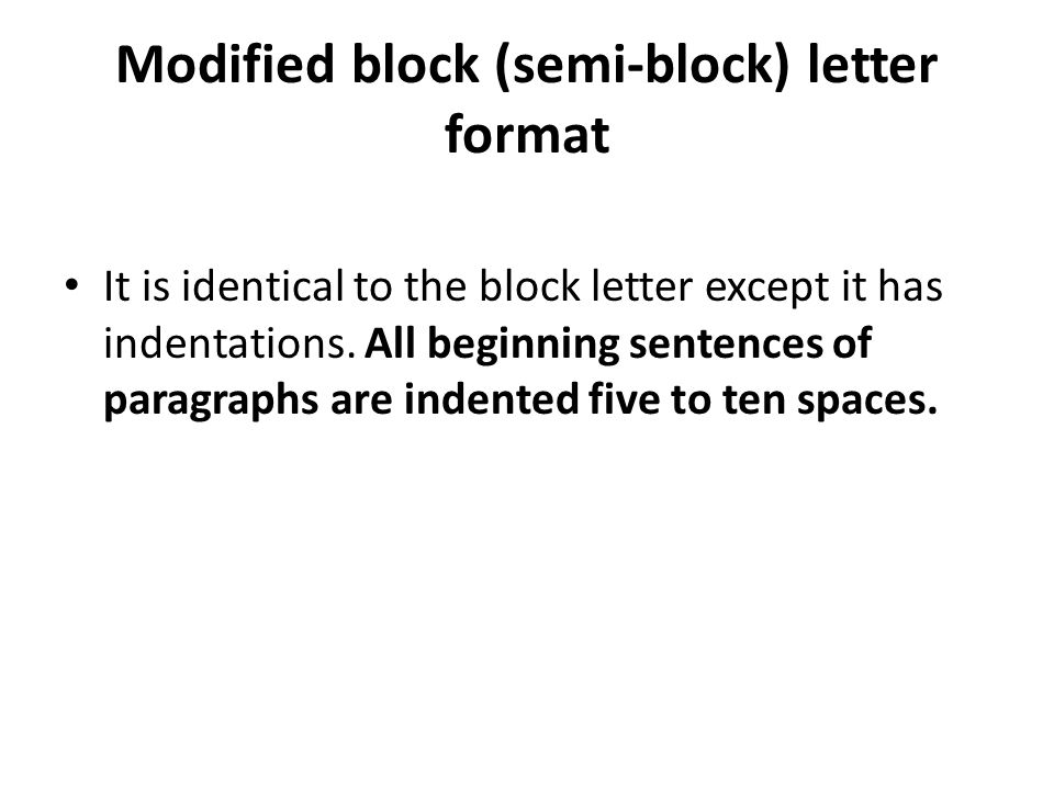 Types of format ppt video online download modified block semi block letter format altavistaventures Image collections