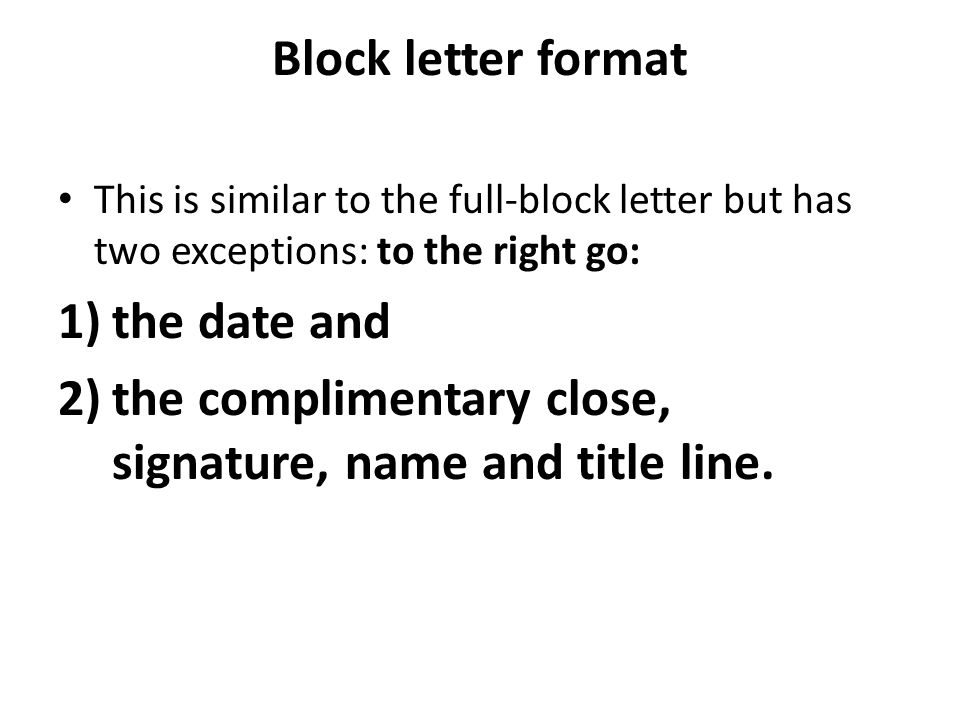 Types of format ppt video online download the complimentary close signature name and title line spiritdancerdesigns Gallery