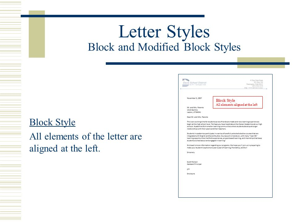 Block and modified block styles with open and mixed punctuation letter styles block and modified block styles altavistaventures Image collections