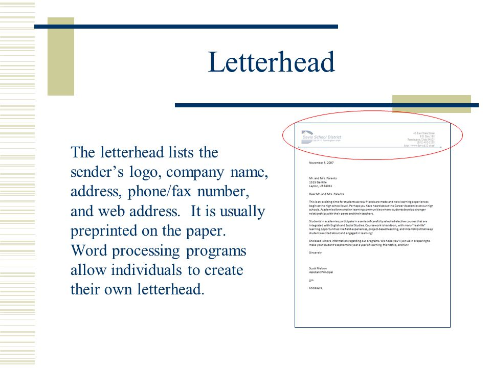 Block and modified block styles with open and mixed punctuation 4 letterhead the letterhead lists the senders logo company name address phonefax number and web address it is usually preprinted on the paper spiritdancerdesigns Choice Image
