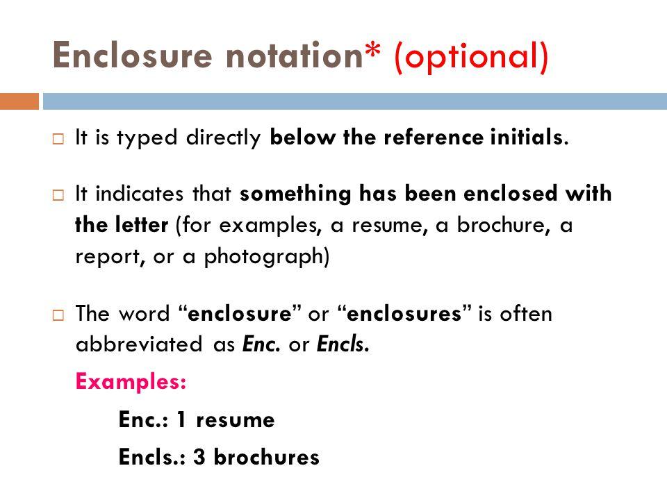 Perfect 25 Enclosure Notation* ...