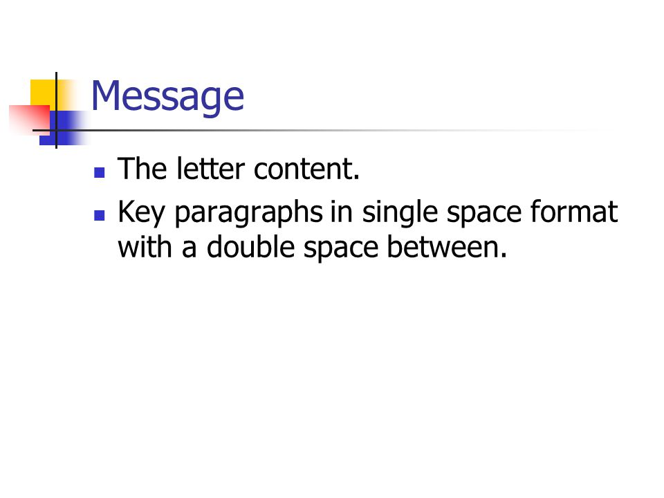 Message The letter content.