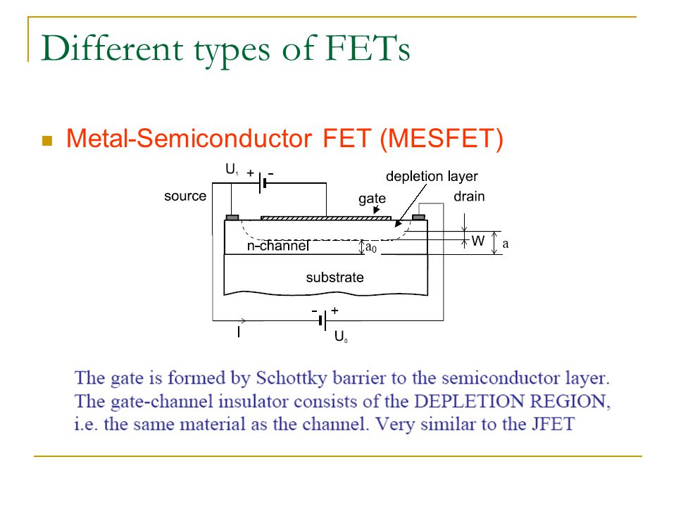 mesfet Measuring and modeling low frequency dispersion in gaas mesfet's by hemraj singh sodhi submitted to the department of electrical engineering and computer science.
