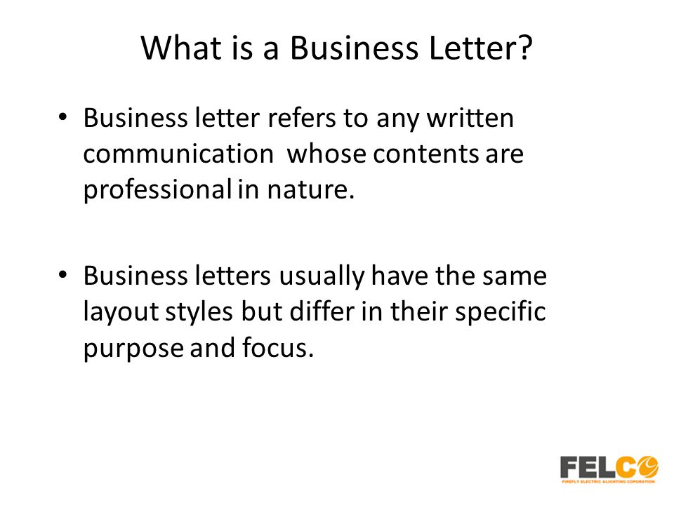 What Is A Business Letter from slideplayer.com
