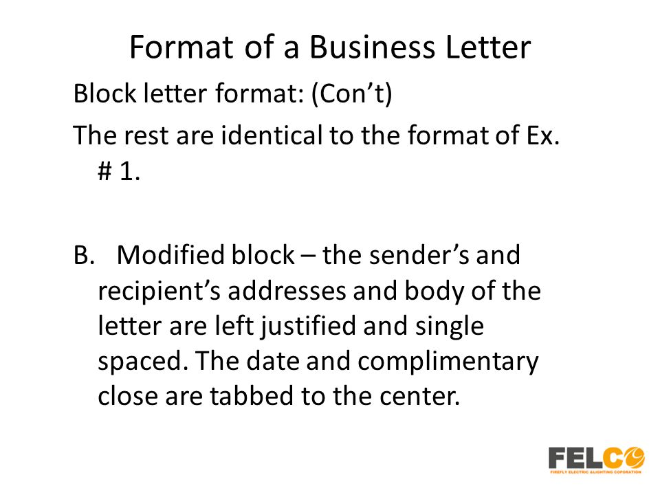 Lesson 2 business letters parts and formats ppt download 44 format spiritdancerdesigns Image collections