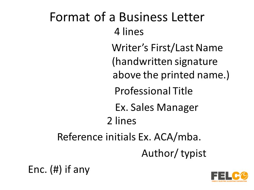 Lesson 2 business letters parts and formats ppt download format of a business letter spiritdancerdesigns Image collections