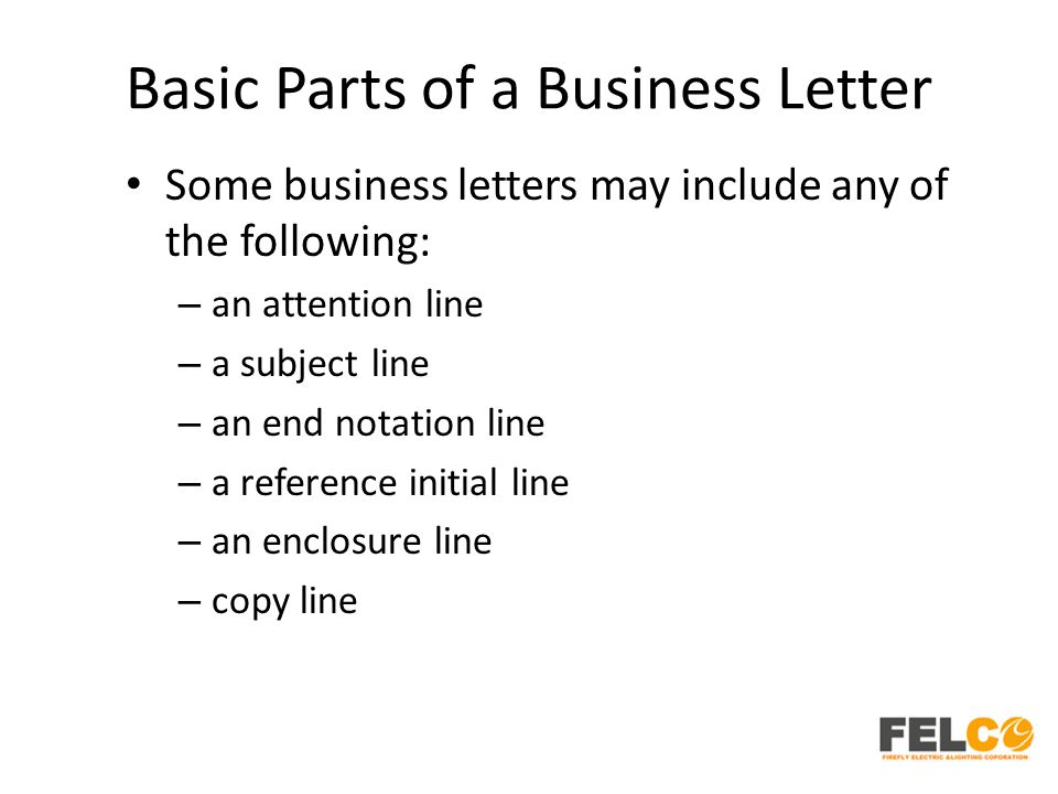 Lesson 2 business letters parts and formats ppt download basic parts of a business letter expocarfo Gallery