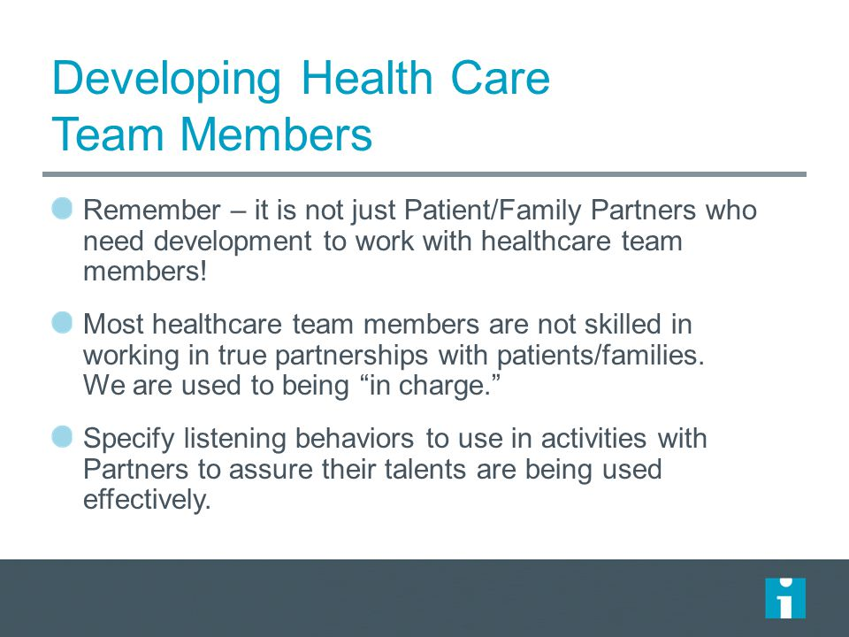 Developing Health Care Team Members