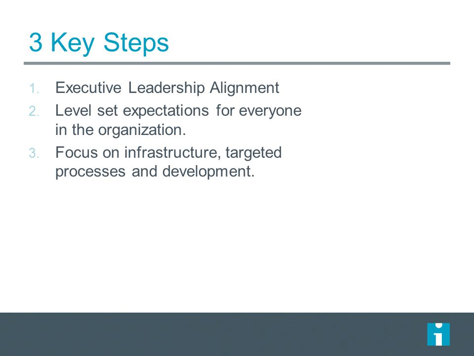 3 Key Steps Executive Leadership Alignment