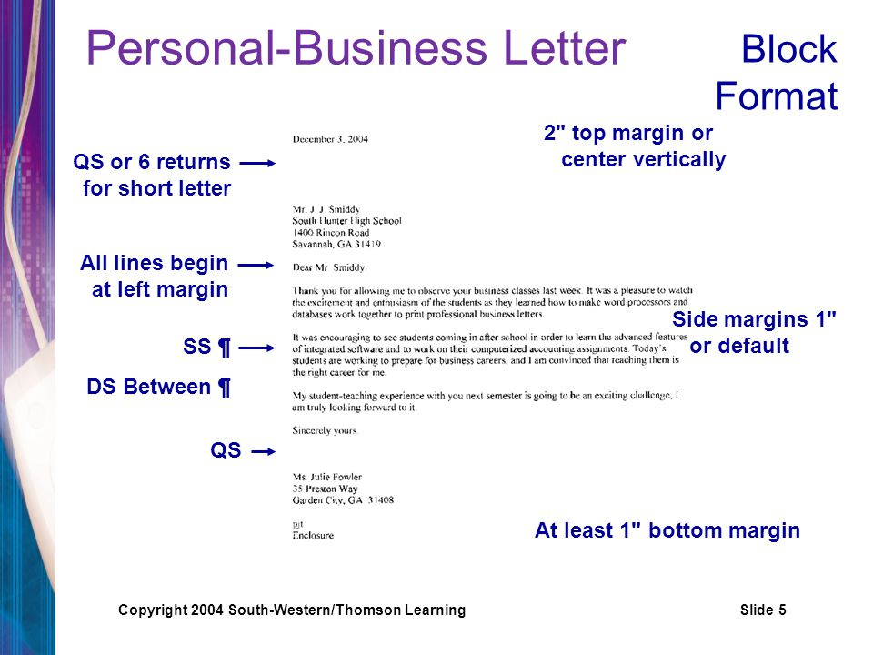 Personal business letters ppt video online download 5 personal business letter spiritdancerdesigns Choice Image