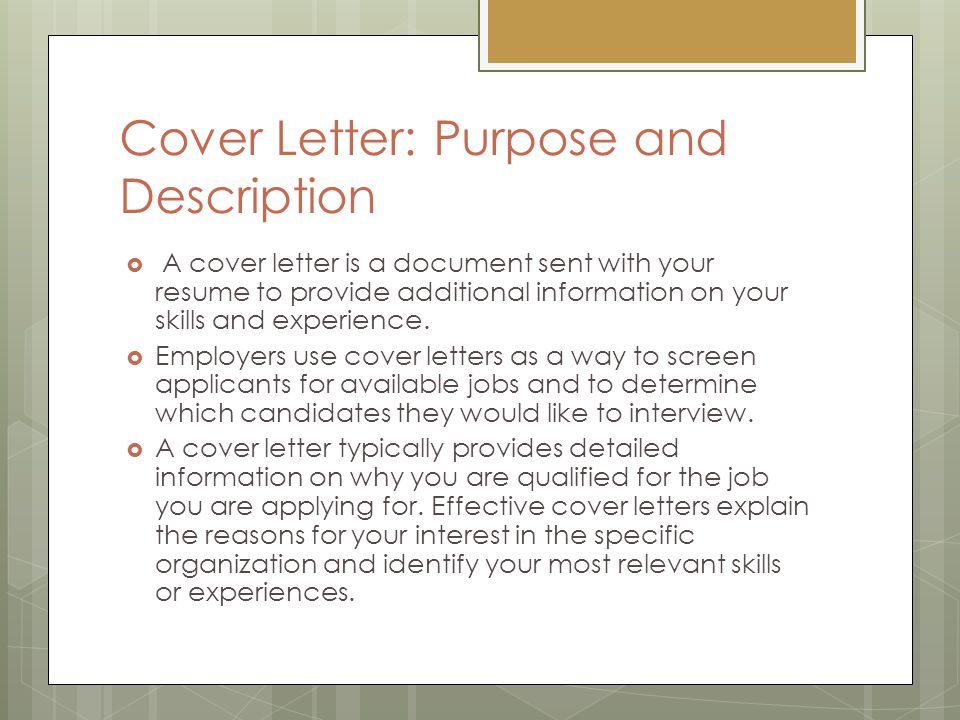 Who To Address Online Cover Letter To