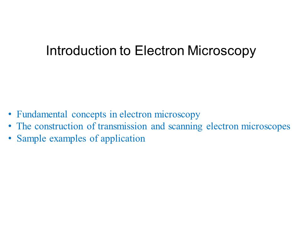 scanning and transmission electron microscopy an introduction pdf