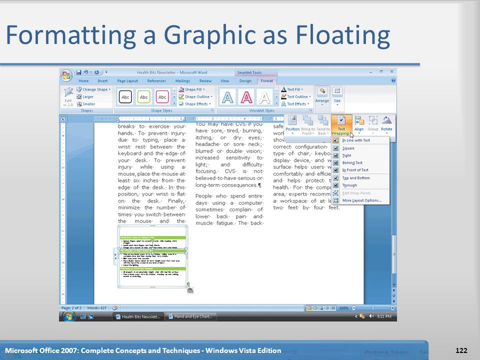 Formatting a Graphic as Floating