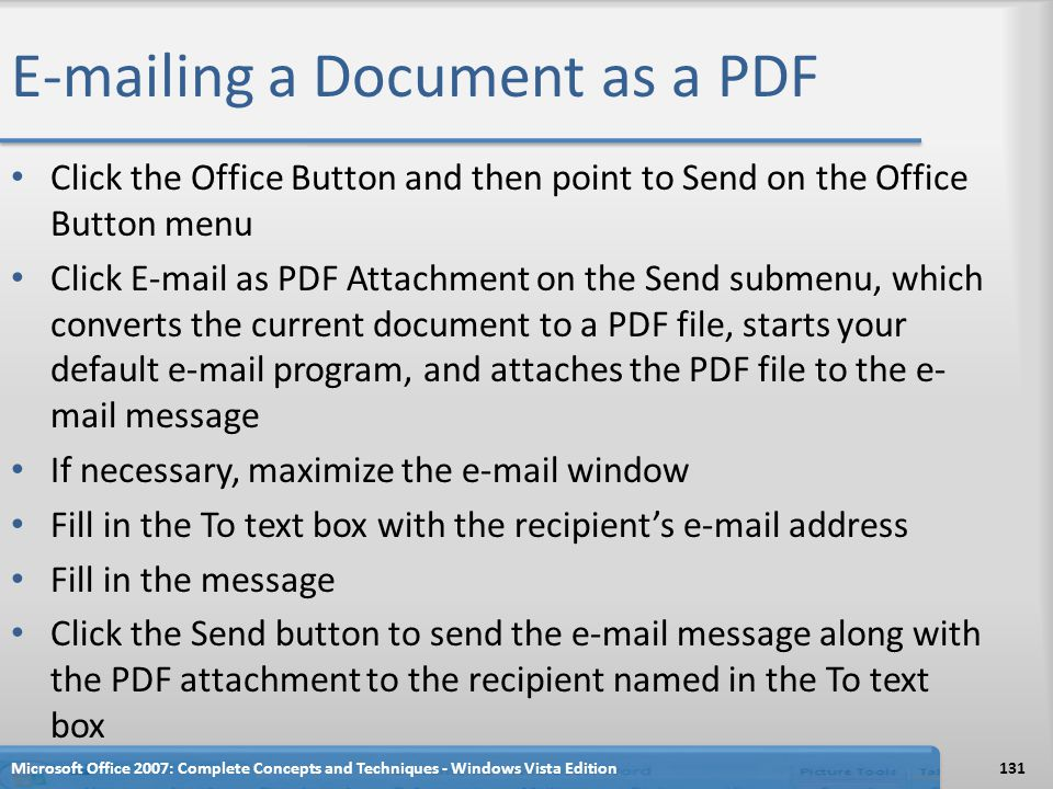 ing a Document as a PDF