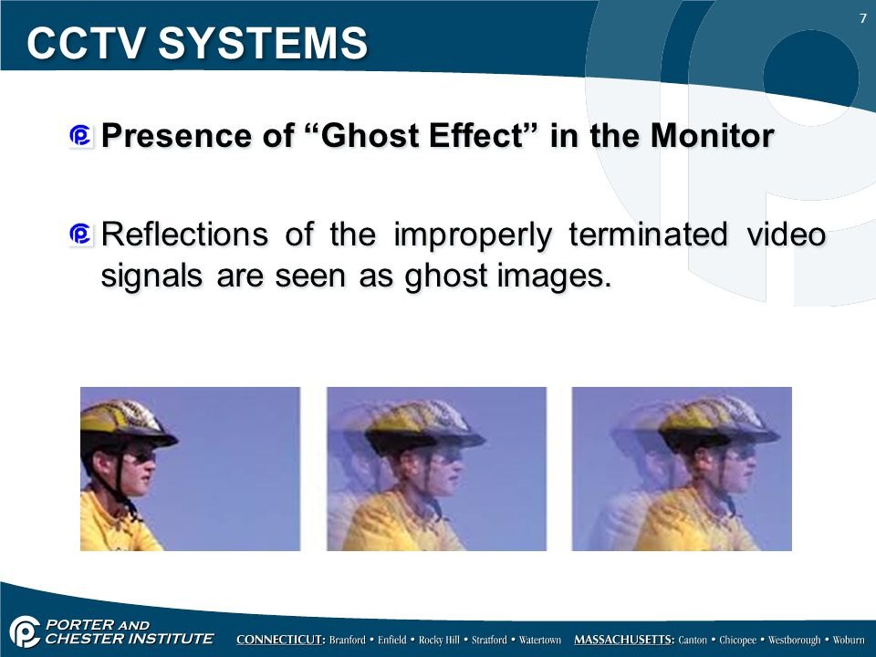 CCTV SYSTEMS Presence of Ghost Effect in the Monitor