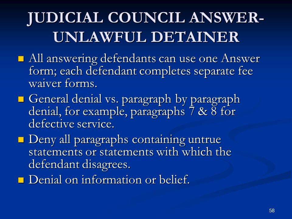 THE TENANT S GUIDE TO EVICTION DEFENSE Ppt Video Online