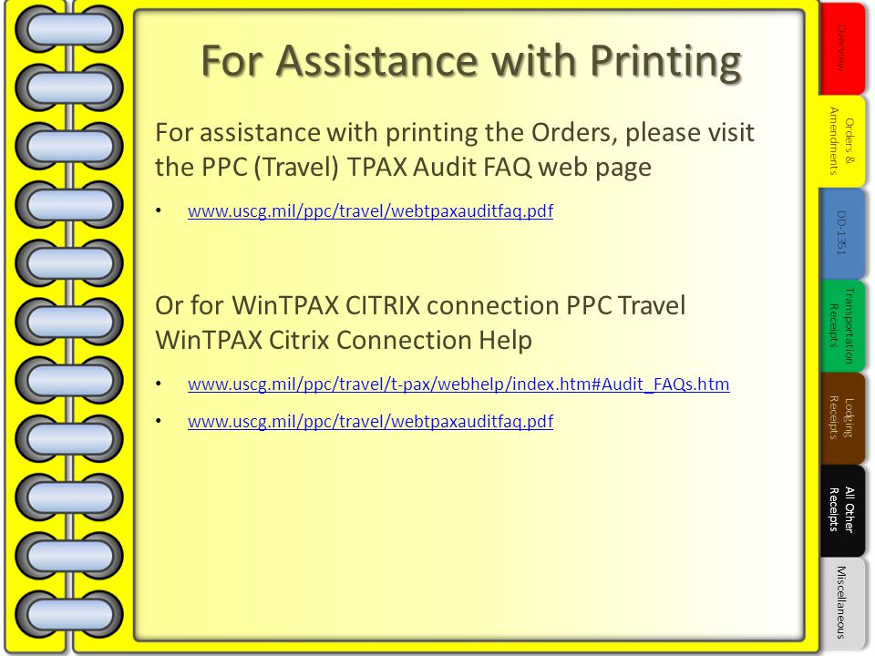 For Assistance with Printing