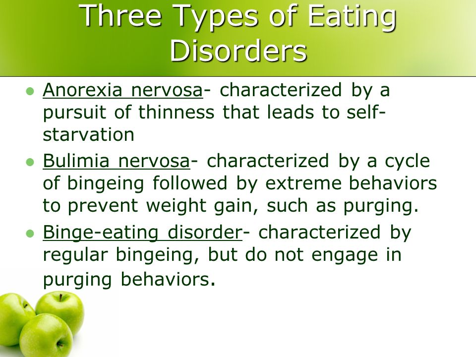 Three Types of Eating Disorders