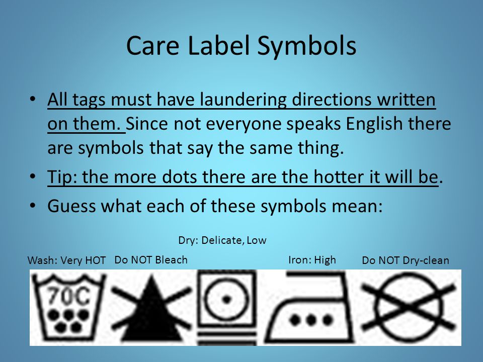 Laundry 101 And Clothing Care Ppt Video Online Download