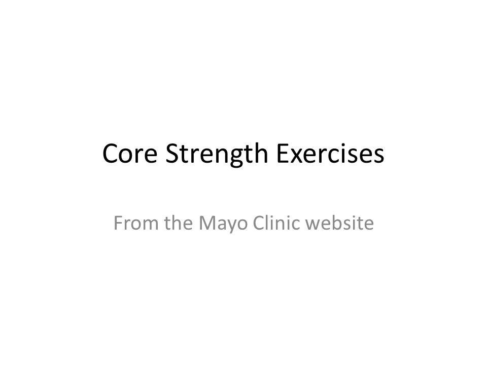 Core Strength Exercises