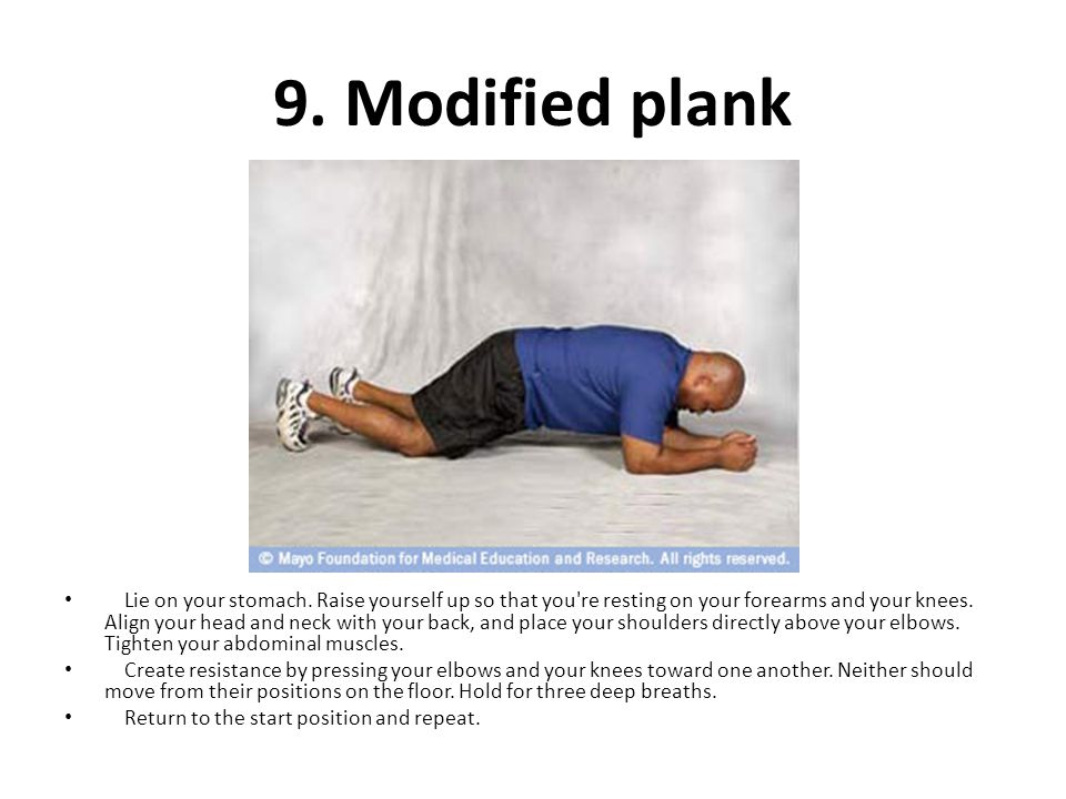 9. Modified plank