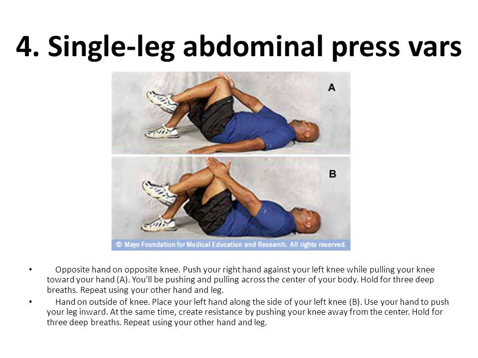 4. Single-leg abdominal press vars