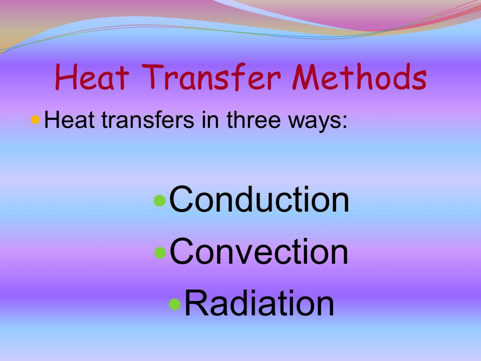 Conduction Convection Radiation Heat Transfer Methods