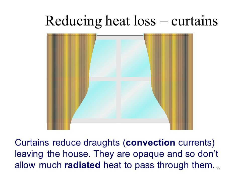 Reducing heat loss – curtains