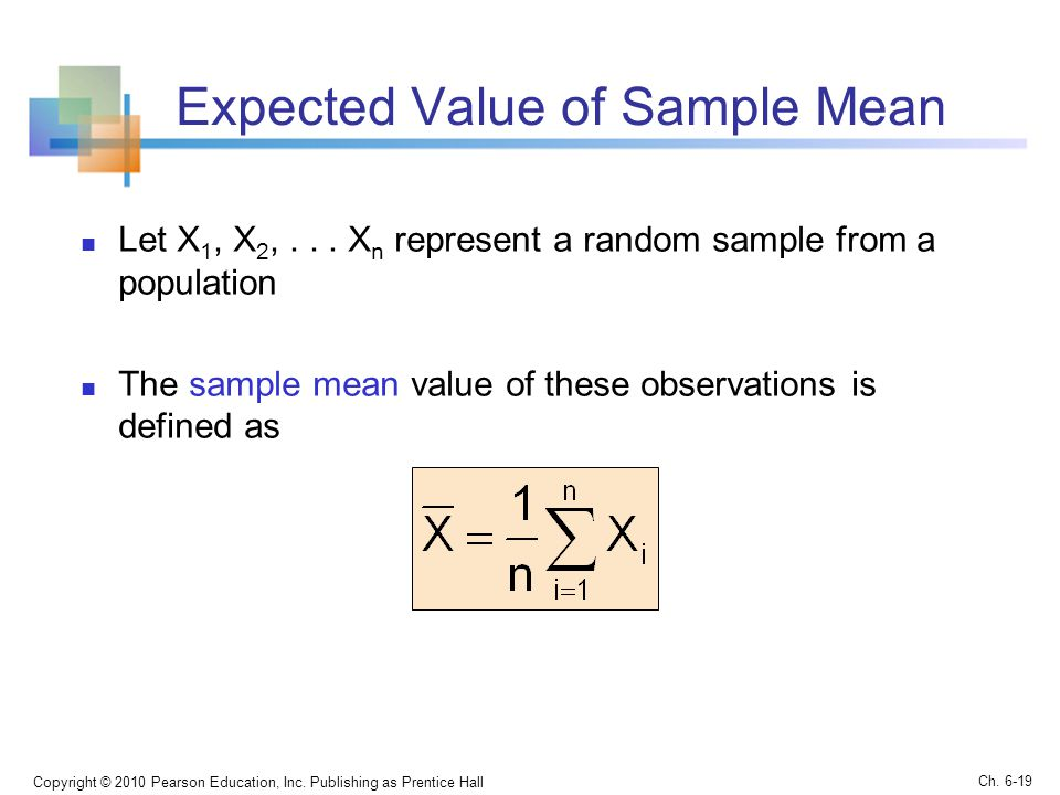 Expected Value of Sample Mean