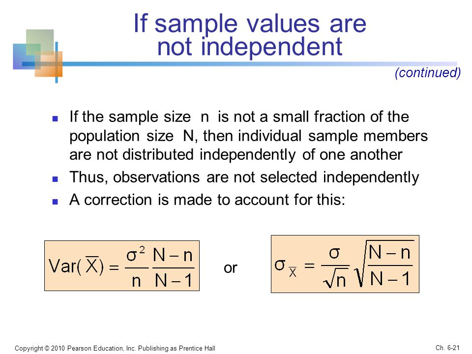 If sample values are not independent