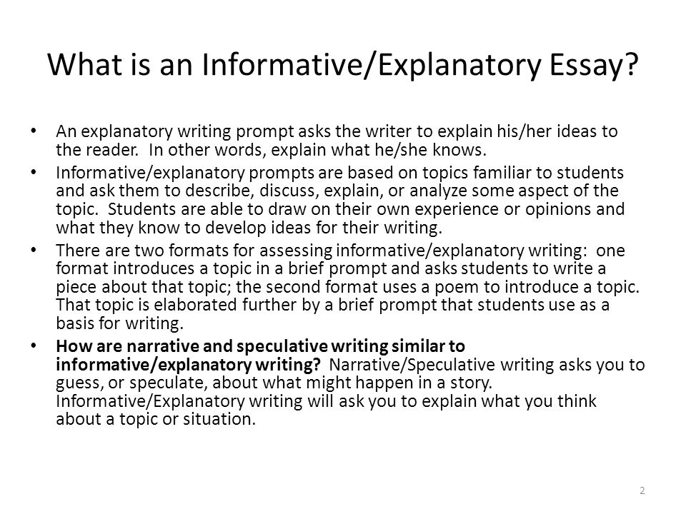 Thesis Essay Example What Is An Informativeexplanatory Essay Short Essays In English also Narrative Essay Papers Writing Part  The Informativeexplanatory Writing Task  Ppt Video  Thesis For Compare And Contrast Essay