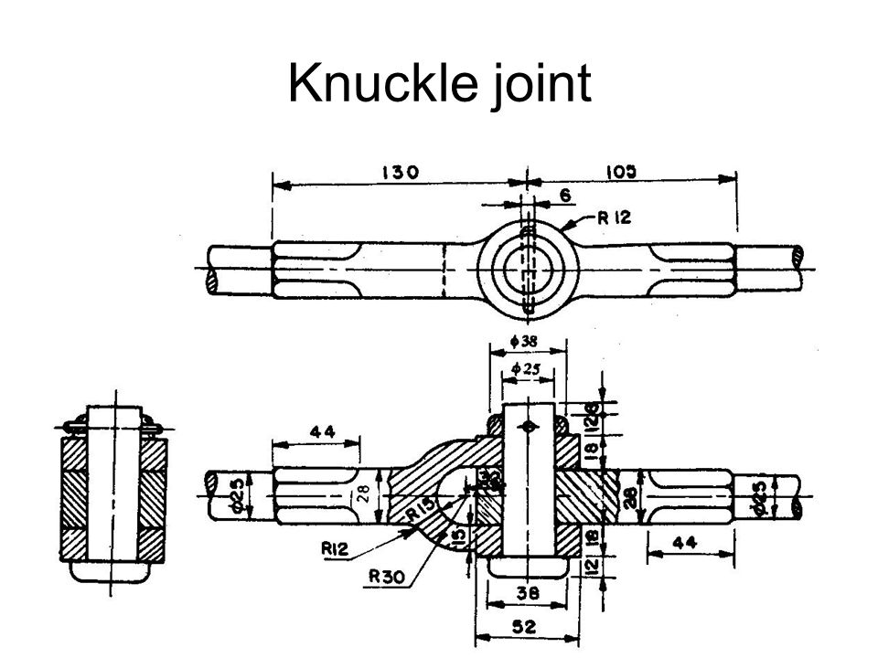 knuckle joint applications  elevator chains  valve rods