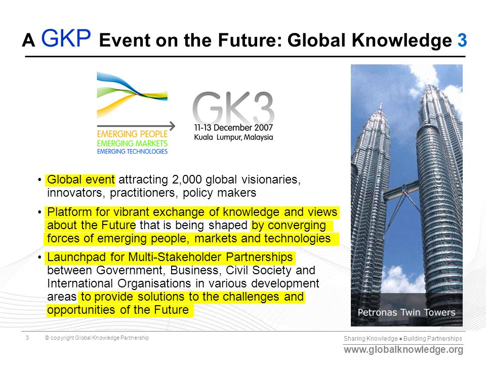 A GKP Event on the Future: Global Knowledge 3