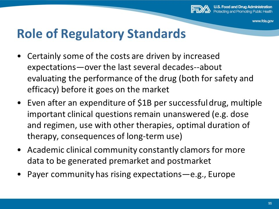 Role of Regulatory Standards