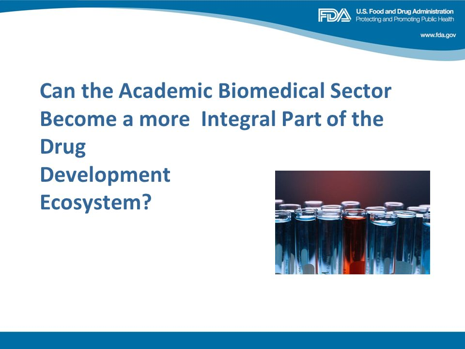 Can the Academic Biomedical Sector Become a more Integral Part of the Drug Development Ecosystem