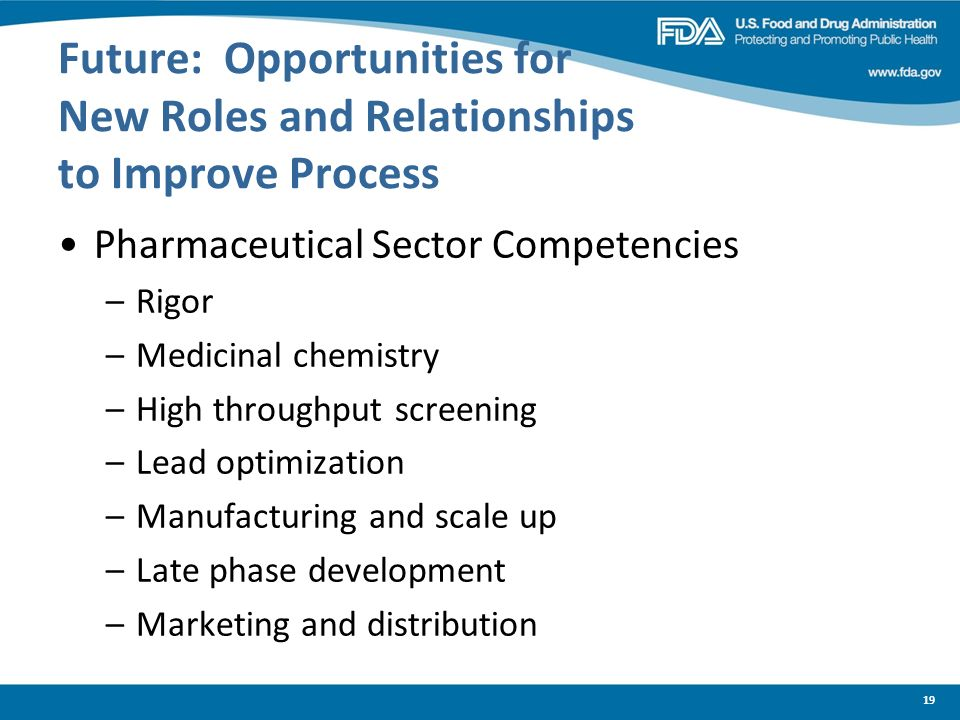 Future: Opportunities for New Roles and Relationships to Improve Process