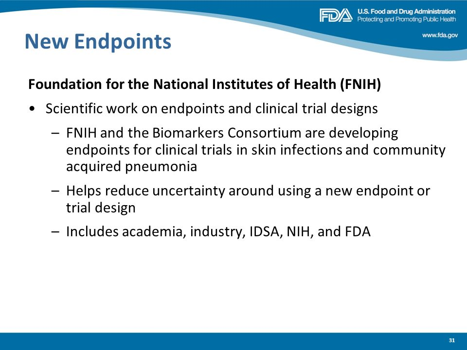 New Endpoints Foundation for the National Institutes of Health (FNIH)