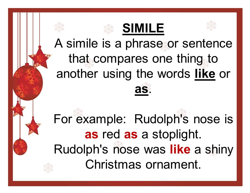 Christmas Similes Metaphors Ppt Video Online Download